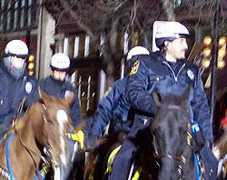 Police on Halloween patrol