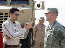 Congressman Paul Ryan (l) in Kuwait
