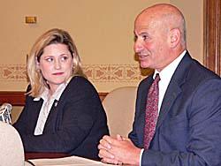 Senator Julie Lassa, Representative Spencer Black (Photo: Jackie Johnson)