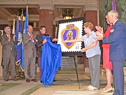Purple Heart stamp unveiling (Photo: Jackie Johnson)