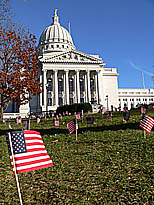 Flags at state capitol (File photo: Jackie Johnson)