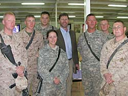 US Rep. Ron Kind w/ troops in Iraq (Photo: courtesy of Kind's website)