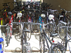 Bicycles at a state office building in Madison