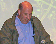 Governor Jim Doyle talks about Wisconsin floods. (Photo: Jackie Johnson)