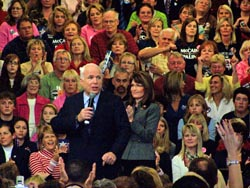 John McCain and Sarah Palin in Waukesha, WI.