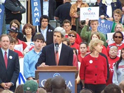 Sen. John Kerry in Madison.