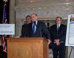 Gov. Jim Doyle, Alan Fish, Gary Wolter