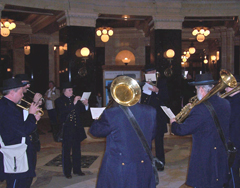 First Brigade Band members in rotunda