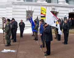 Tribal honor guard at Capitol in Madison
