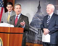 Paul Ryan, Russ Feingold, John McCain