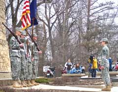 UW Army ROTC Color Guard at Brittany Zimmerman memorial