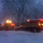 Heavy equipment removes snow in Madison