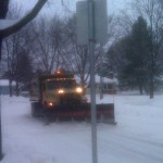 Plows were out in Madison on Tuesday