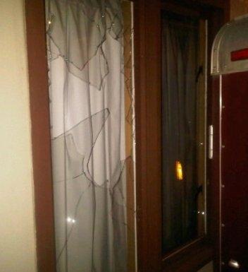 Window where flashbang was thrown