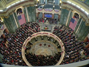 The 2010 inauguration of Republican Governor Scott Walker (Photo: Jackie Johnson)