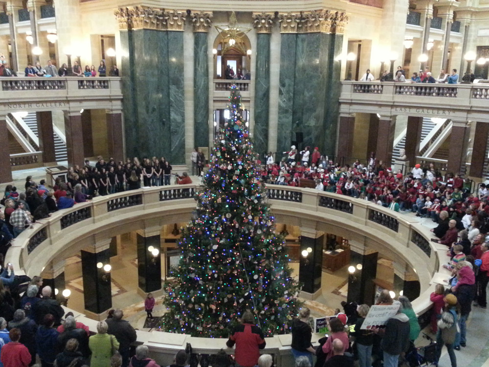 The 2012 Wisconsin state Capitol Christmas Tree