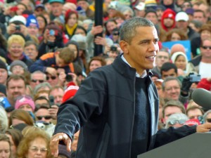 President Obama campaigns in Madison in 2012. (PHOTO: Jackie Johnson)