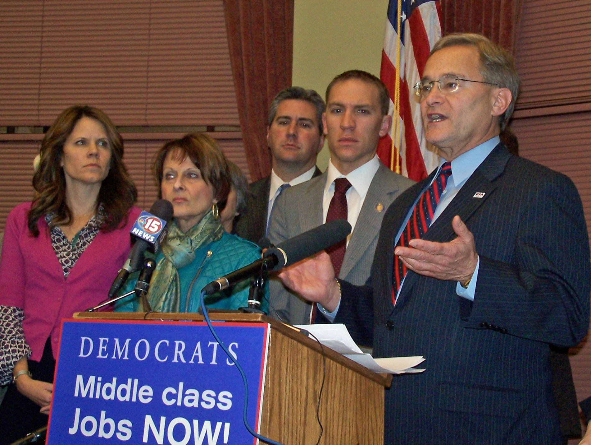 Democratic leaders respond to Governor Walker's State of the State speech. (Photo: Andrew Beckett)