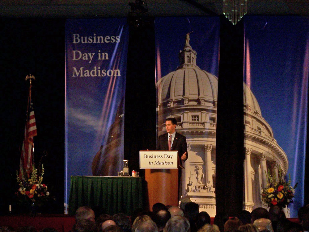 Gov. Scott Walker outlines his entitlement reform proposals. (PHOTO: Andrew Beckett)