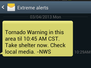 An example of an emergency cell phone alert (Photo: WRN)