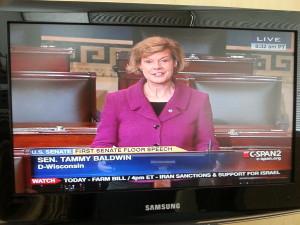 Senator Tammy Baldwin's first speech on the floor of the U.S. Senate
