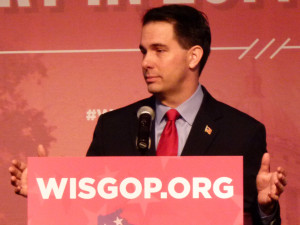 Governor Scott Walker speaks to convention goers