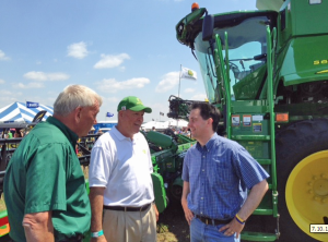 Governor Walker visiting Farm Technology Days (PHOTO taken from the governor's twitter feed.)