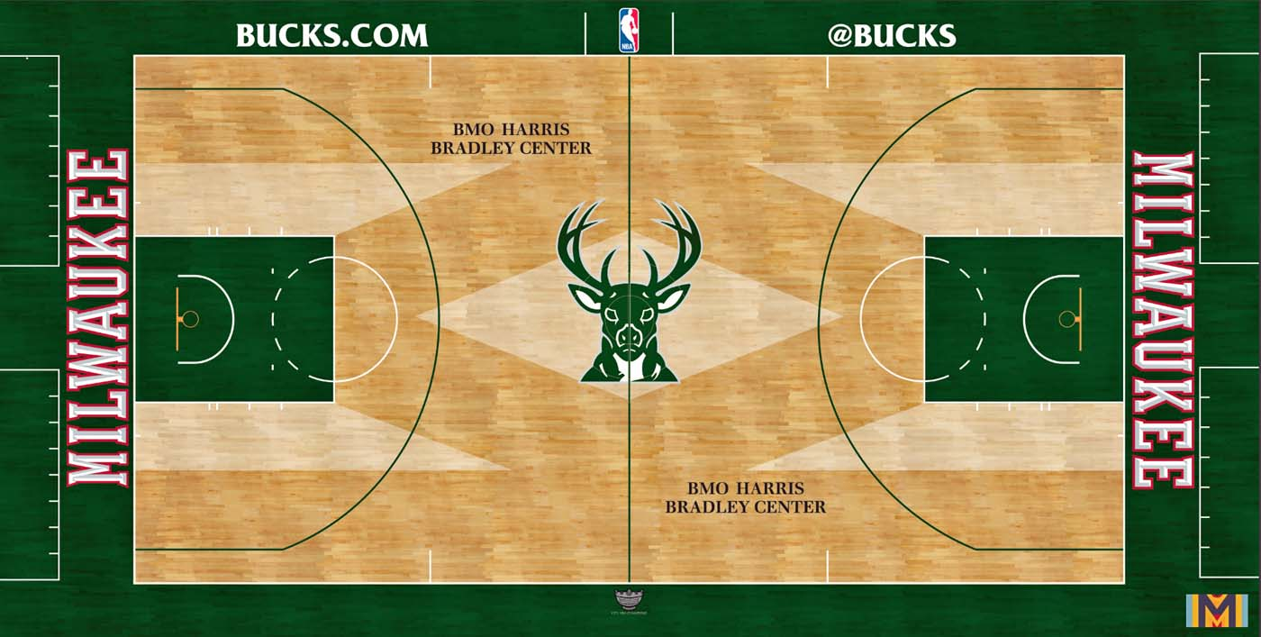 Photo Collection Bucks Unveil New Court