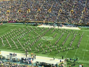 UW-Marching Band at Lambeau Field