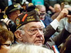 Veteran attending Friday's ceremony at the state Capitol. (Photo: Jackie Johnson)