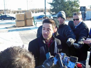 Ryan Braun speaks with reporters in Milwaukee