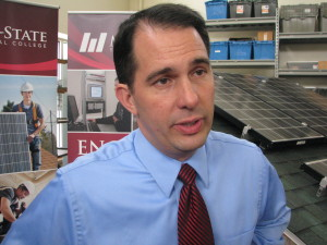 Gov. Walker in Wausau PHOTO: WSAU