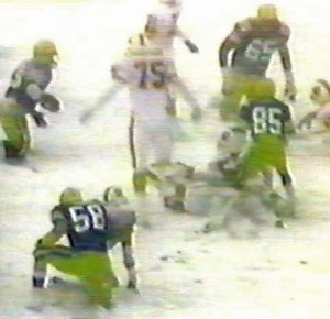 1985 Snow Bowl game at Lambeau Field