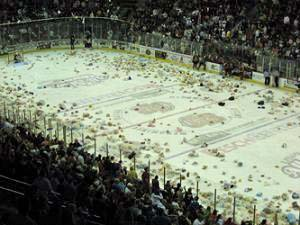 Green Bay Gamblers Teddy Bear Toss