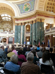 VOCA ceremony at the state Capitol (PHOTO: Jackie Johnson)