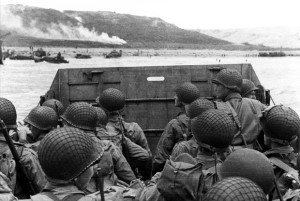 American assault troops in a landing craft approaching the Northern Coast of France on June 6, 1944 (Photo: US Army)
