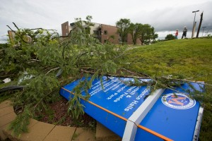 Storm damage on the UW-Platteville campus (Photo: UW-Platteville)