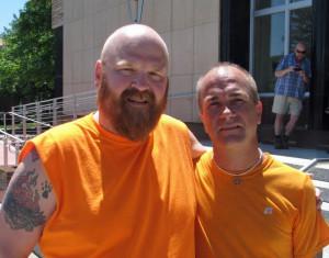 llen Rasmussen (L) and Keith Kitsembel