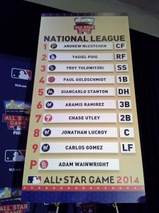 Tonight's NL All-Star lineup