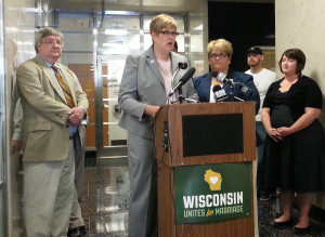 Katy Heyning and Judi Trampf are plaintiffs in a lawsuit challenging Wisconsin's gay marriage ban. (Photo: Andrew Beckett)