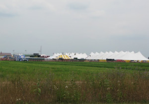 The Farm Technology Days tent city. (Photo: WSAU)