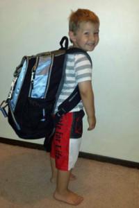 Backpack -- perhaps a tad too big.