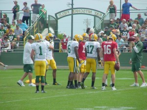 Matt Flynn & Scott Tolzien at final Training Camp practice