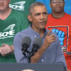 President Barack Obama speaks at Laborfest in Milwaukee (Photo: WRN)
