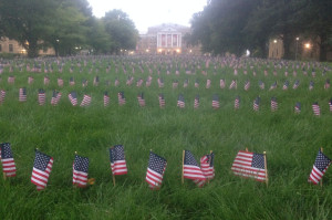 Flags on Bascom Hill honor those killed on 9-11. (Photo: UW-Madison College Republicans)