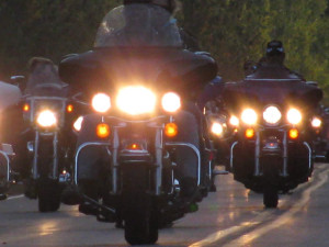 Harley_Davidsons heading to Tomahawk Fall Ride (2009 photo)
