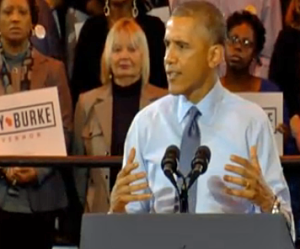 President Obama rallies for Mary Burke in Milwaukee