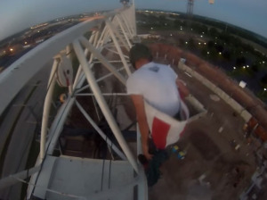 A video showed Nicholas Propson preparing to jump from the crane.