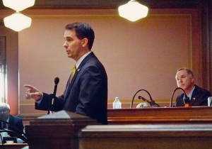 Governor Walker addresses Assembly GOP lawmakers