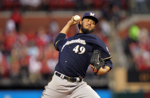 Yovani Gallardo - UPI/Bill Greenblatt